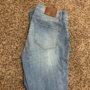 Madewell crop skinny jeans